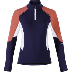 UYN Evolutyon Half Zip Second Layer Women, deep blue/geranium/off white